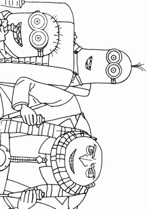 despicable  coloring pages birthday printable