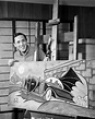 Rare photographs of Batman artist Bob Kane with Bat-paintings