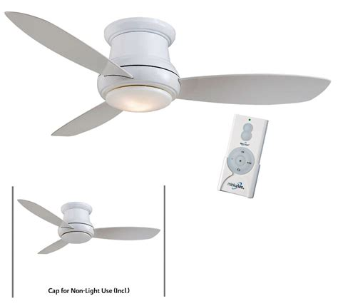 ceiling fans with remote minka aire f519l wh white concept ii 52 quot ceiling fan w