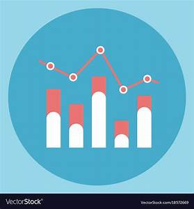 Chart Bar Diagram Icon Sales Data Royalty Free Vector Image