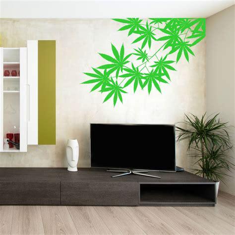 bedroom wall stickers cannabis tree leaf plant weed skunk hash vinyl wall art 10749   s l1000