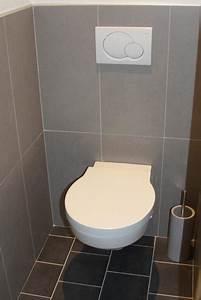 deco wc carrelage gris With quelle couleur pour les toilettes 5 carrelage toilette murale