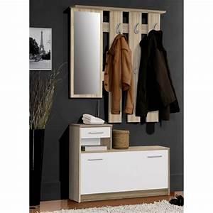 finlandek vestiaire d39entree avec miroir peili scandinave With meuble d entree vestiaire