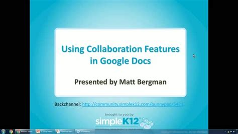 Using Collaboration Features in Google Docs (Webinar ...