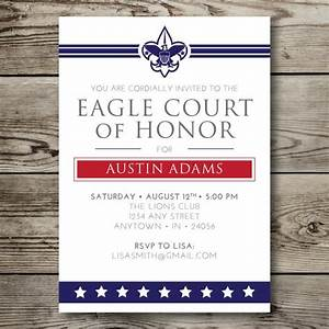 eagle scout court of honor program template - printable eagle court of honor boy scouts by vallarinacreative