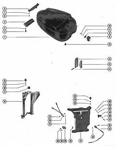 Mercury Marine Model 500  50 Hp Top Cowl Assembly Parts