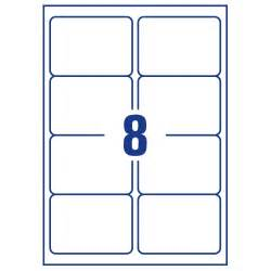80 Labels Per Sheet Template Avery 8 Per Sheet Clear Laser Label Pack Of 200 Buy At Huntoffice Ie