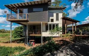 construction maison en bois sur terrain en pente With maison contemporaine sur pilotis