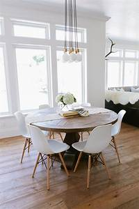 the modern farmhouse project kitchen breakfast nook With modern round dining room table