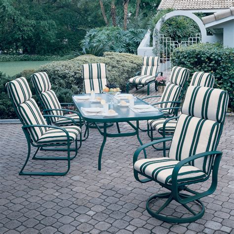 cayman isle cushion 7 patio dining set from woodard