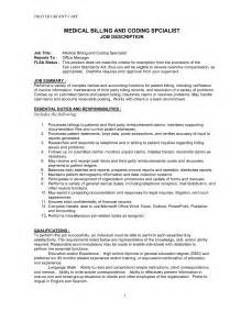 Exle Of Billing And Coding by Doc 644827 Coder Sle Resume Insurance Biller