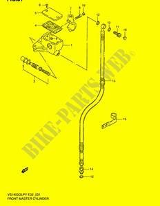 Front Master Cylinder For Suzuki Intruder 1400 1996