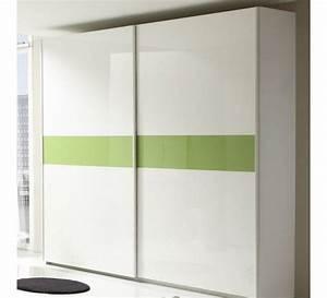armoire 2 portes coulissantes laquees avec bande quotlinea With porte de douche coulissante avec étagère salle de bain fer forgé