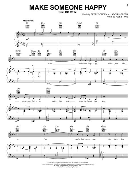 make someone happy sheet music by jimmy duarante piano vocal guitar right melody 52338