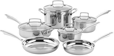 cuisinart tps   piece tri ply stainless steel cookware set