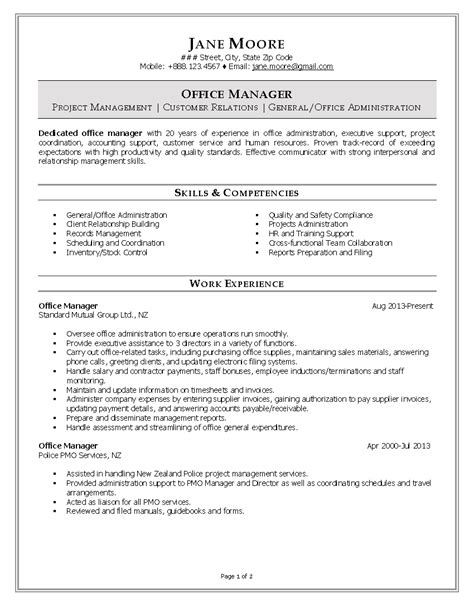 Office Manager Resume by Best 25 Office Manager Resume Ideas On Office