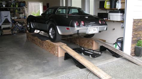Front Wheel Stand Motorcycle by Corvette C3 Ramps Build Home Made Car Ramps