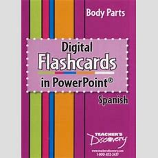 Body Parts Digital Flashcards In Powerpoint Spanish Price