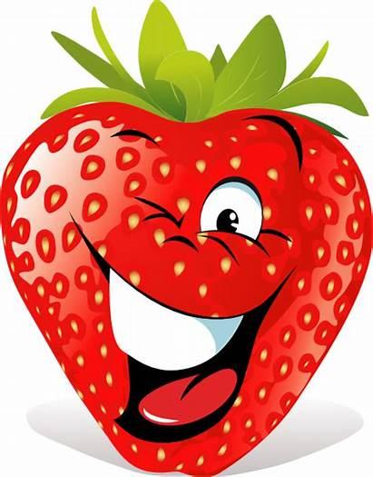 Cartoon Strawberry Face Clip Clipart Vector Clker