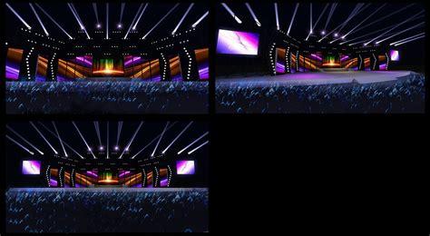 Concert Stage Design 20 3d Model Obj Cgtradercom