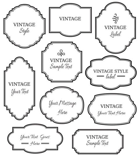 artwork labels template clip vintage labels digital frame vector eps editable diy cards invitation