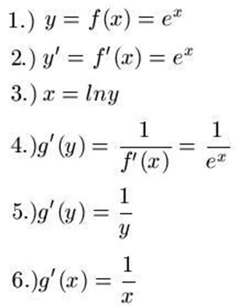 inverse funktion bilden und ableiten