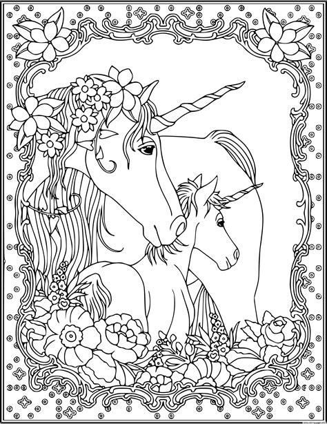 unicorn head adult coloring pages printable