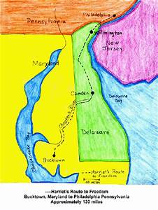 Harriet Tubman's route- map activity for girls ...