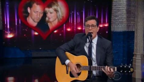 Stephen Colbert mourns Taylor Swift and Tom Hiddleston's ...
