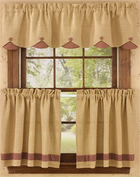 Country Drapes - homespun country curtains