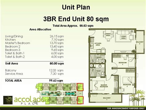 condo sale at accolade place condominiums floor plans
