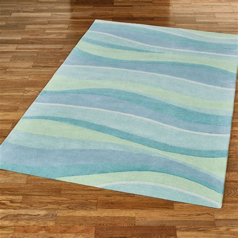 seascapes wave design coastal area rugs