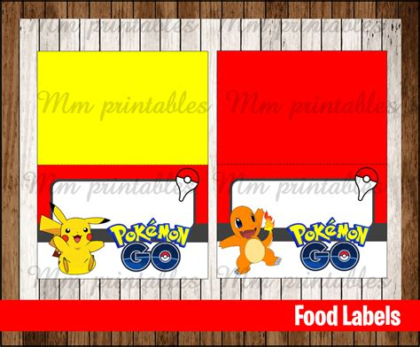sale pokemon  food tent cards instant