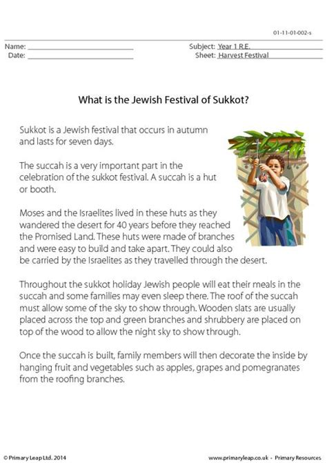 What Is The Jewish Festival Of Sukkot? Primaryleapcouk