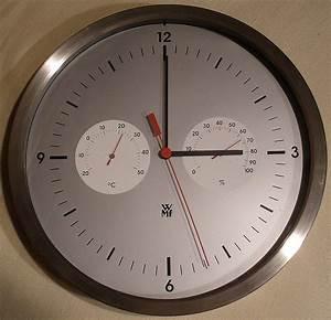 Funkuhr Stellt Sich Nicht : wmf wand funk uhr funkuhr wanduhr 25cm mit thermometer und hygrometer ebay ~ Orissabook.com Haus und Dekorationen