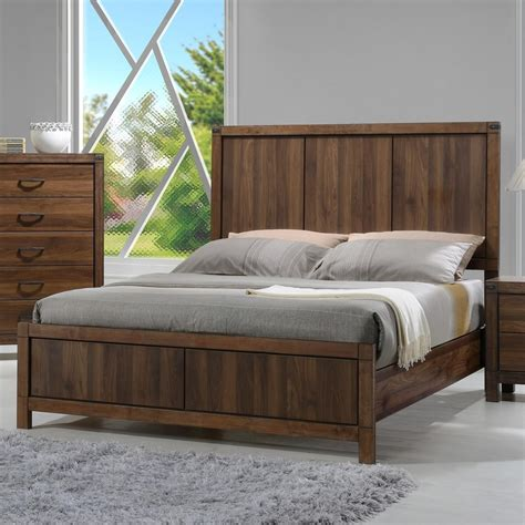 Crown Mark Belmont Queen Headboard And Footboard Panel Bed  Dunk & Bright Furniture Headboard
