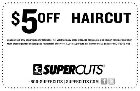 Hairstyle Voucher 5 Off A Haircut From Supercuts Coupon Via The Coupons App