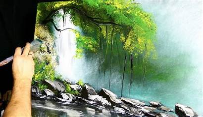 Acrylic Painting Simple Techniques Waterfall Exotic Paintings