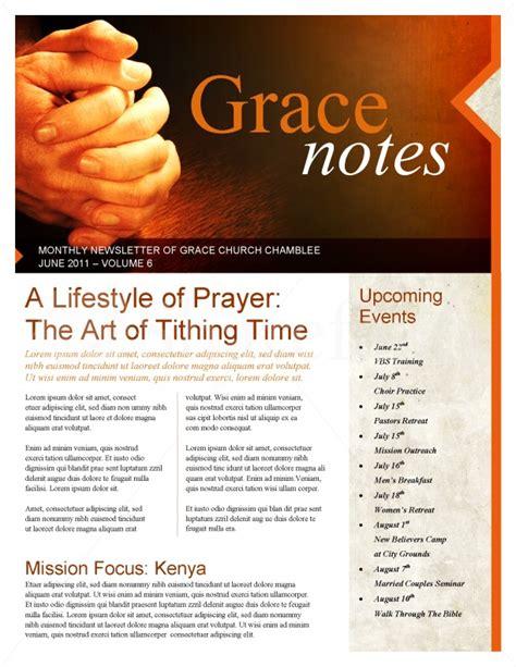 church newsletter templates prayer church newsletter