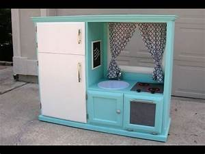 Convert an old TV cabinet into a kids play kitchen - YouTube