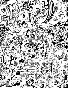 Psychedelic Mushroom Art Black And White | www.imgkid.com ...