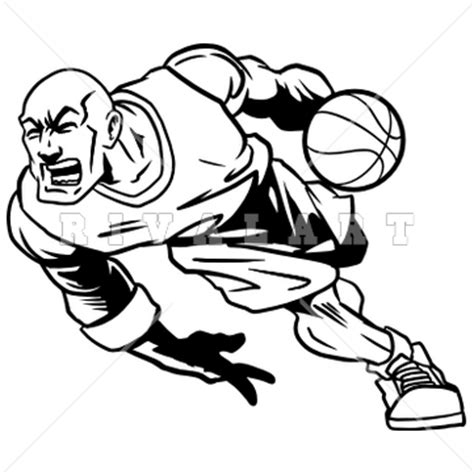 basketball player clipart black and white basketball player dribbling clip 27