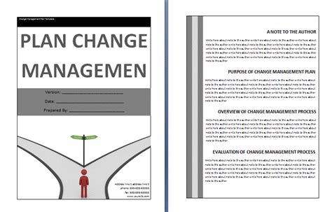 change management plan template plans and reports free business templates