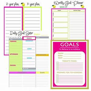 goal planning printables home management binder With household documents management