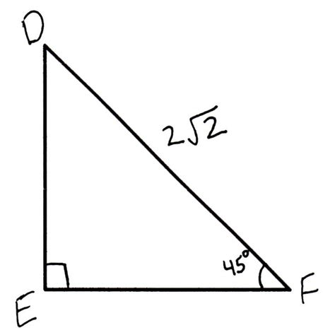 How To Find The Length Of The Side Of A 454590 Right Isosceles Triangle  Basic Geometry