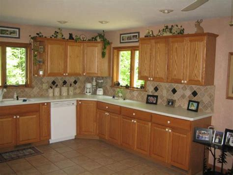 light oak kitchen units kitchens with oak cabinets and tile floors and 7005
