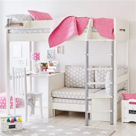 High Sleeper With Desk And Sofa Bed by Merlin High Sleeper With Desk Grey Bedrooms