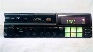 Vintage Alpine 7618 Am Fm Cassette Car Stereo