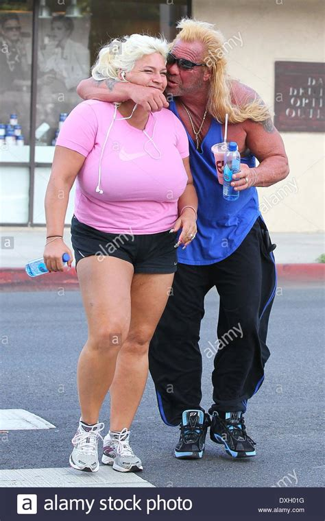 duane chapman aka dog the bounty hunter along with his wife beth stock photo royalty free