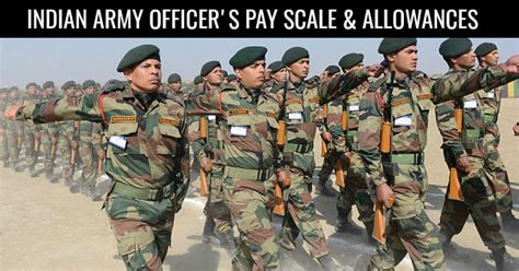 indian army officers pay scale allowances